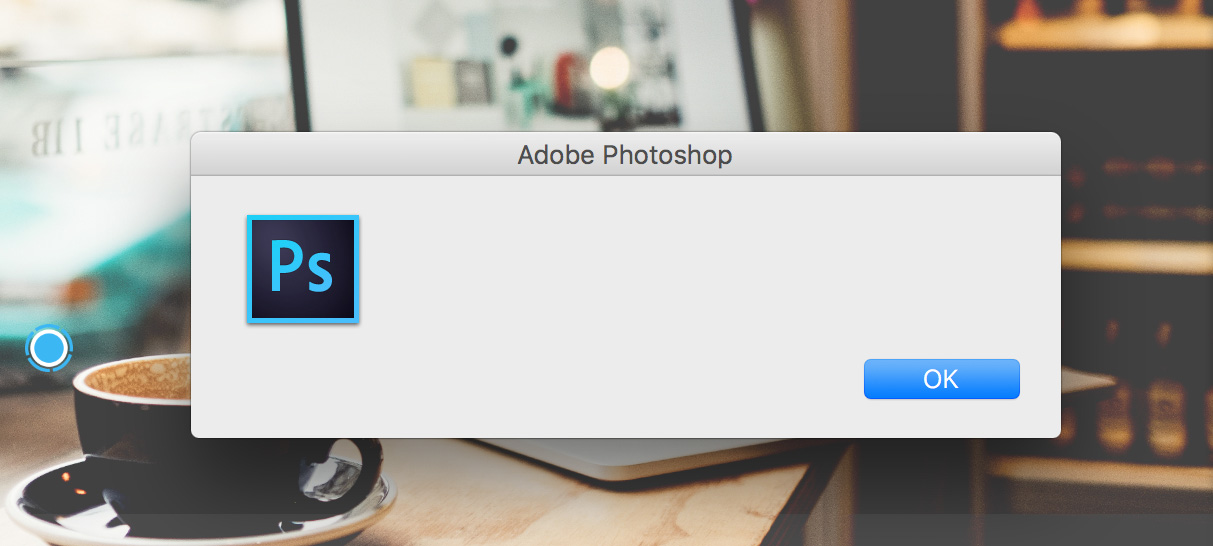 Empty dialog message in Photoshop