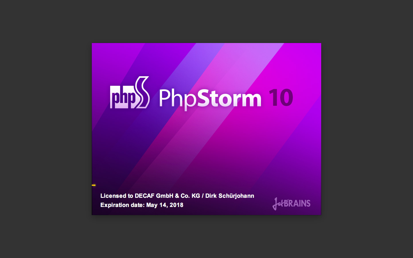 Beautiful PhpStorm 10 splash screen